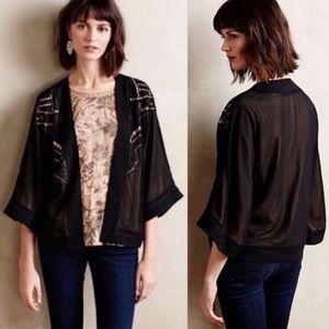 Anthropologie Deletta Beaded Kimono